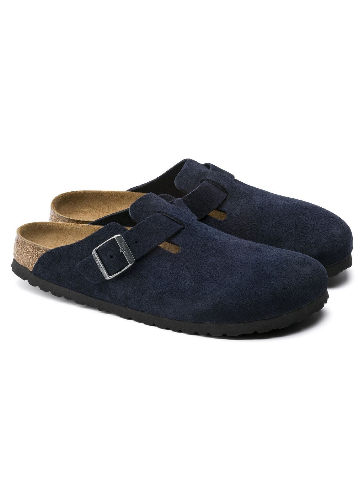 Birkenstock Soft Footbed Boston Clog Suede Leather Night