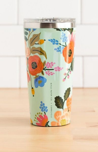 CORKCICLE - Mint Lively Floral Tumbler 16oz