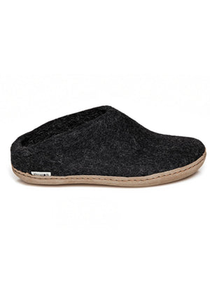 Glerups Slip-on Wool Slipper Charcoal