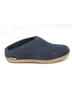 Glerups Slip-on Wool Slipper Denim