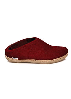 Glerups Slip-on Wool Slipper Red