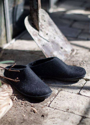 Glerups Rubber Sole Slip On Slippers