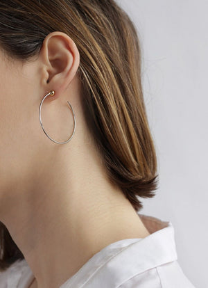 Jenny Bird - Icon Hoops Small rhodium