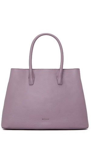 Women's KRISTASM Small Vegan Satchel Amethyst Matt and Nat