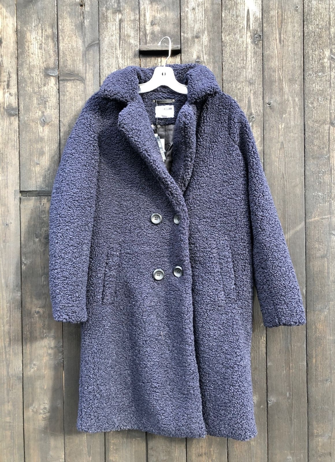 Noisy May Gabi Teddy Coat Night Sky