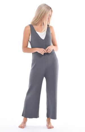 Paper Label Fog Jumpsuit