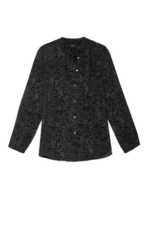 Rails Eloise Long Sleeve Blouse Slate Python Print