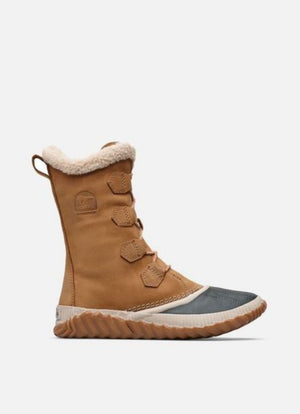 SOREL WOMENS OUT N ABOUT™ PLUS TALL DUCK BOOT ELK