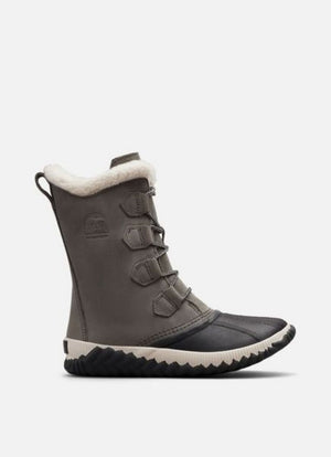 SOREL WOMENS OUT N ABOUT™ PLUS TALL DUCK BOOT QUARRY