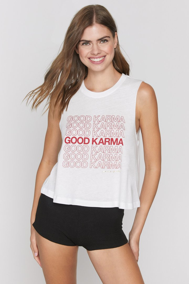 Spiritual Gangster Good Karma Crop Tank