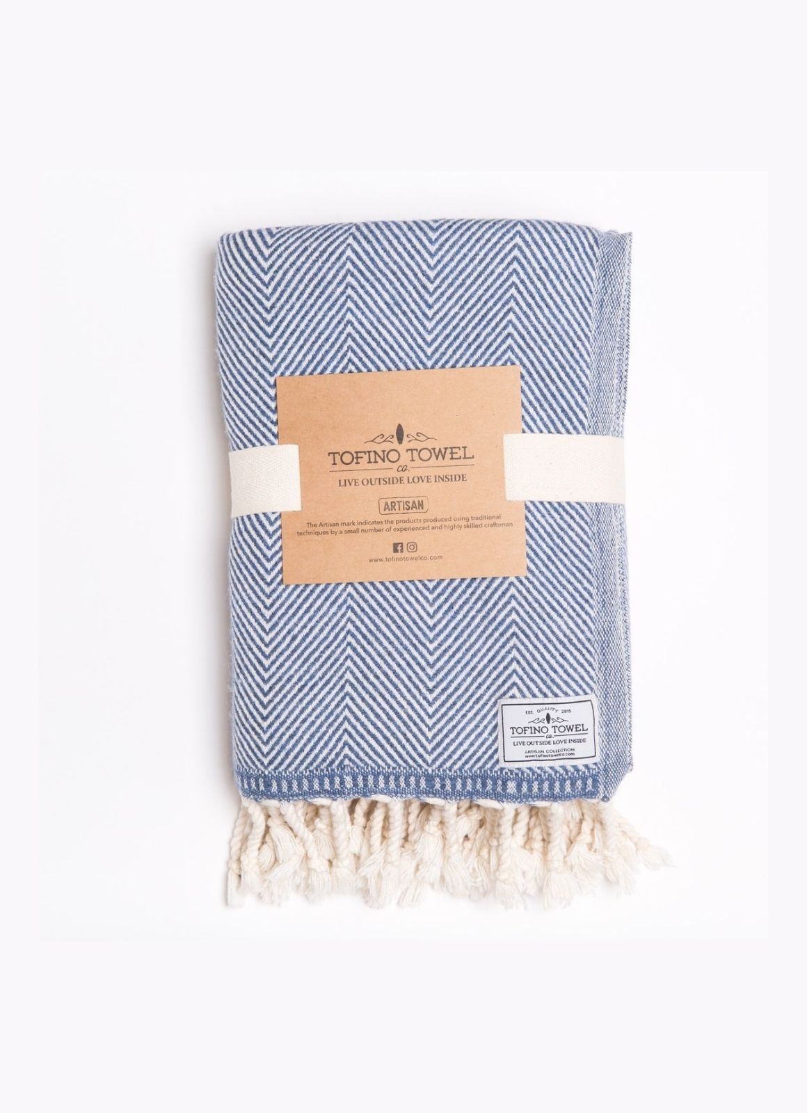 Tofino Towel Co Cove Throw Azure Blue