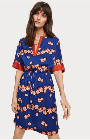 Maison Scotch - Floral Drawstring Dress