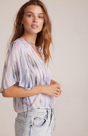 Bella Dahl - Flutter Sleeve Smocked Top