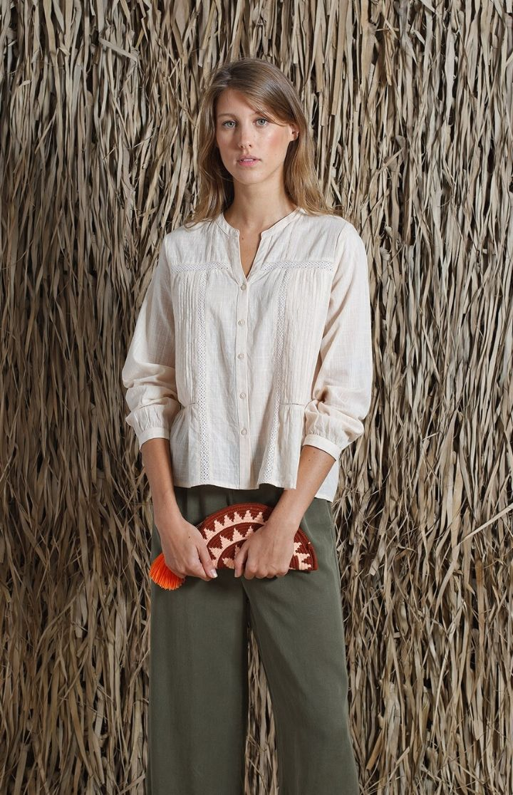 indi & cold - Romantic V Neck Blouse