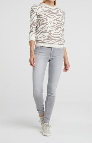 YAYA Women's Animal Print Sweatshirt