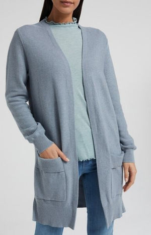 YAYA - Cotton Ribbed Cardigan