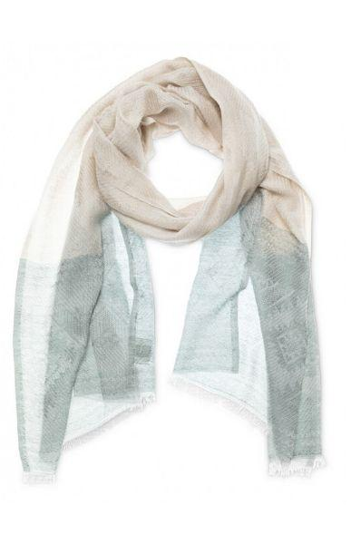 YAYA the brand Jacquard Fringed Scarf