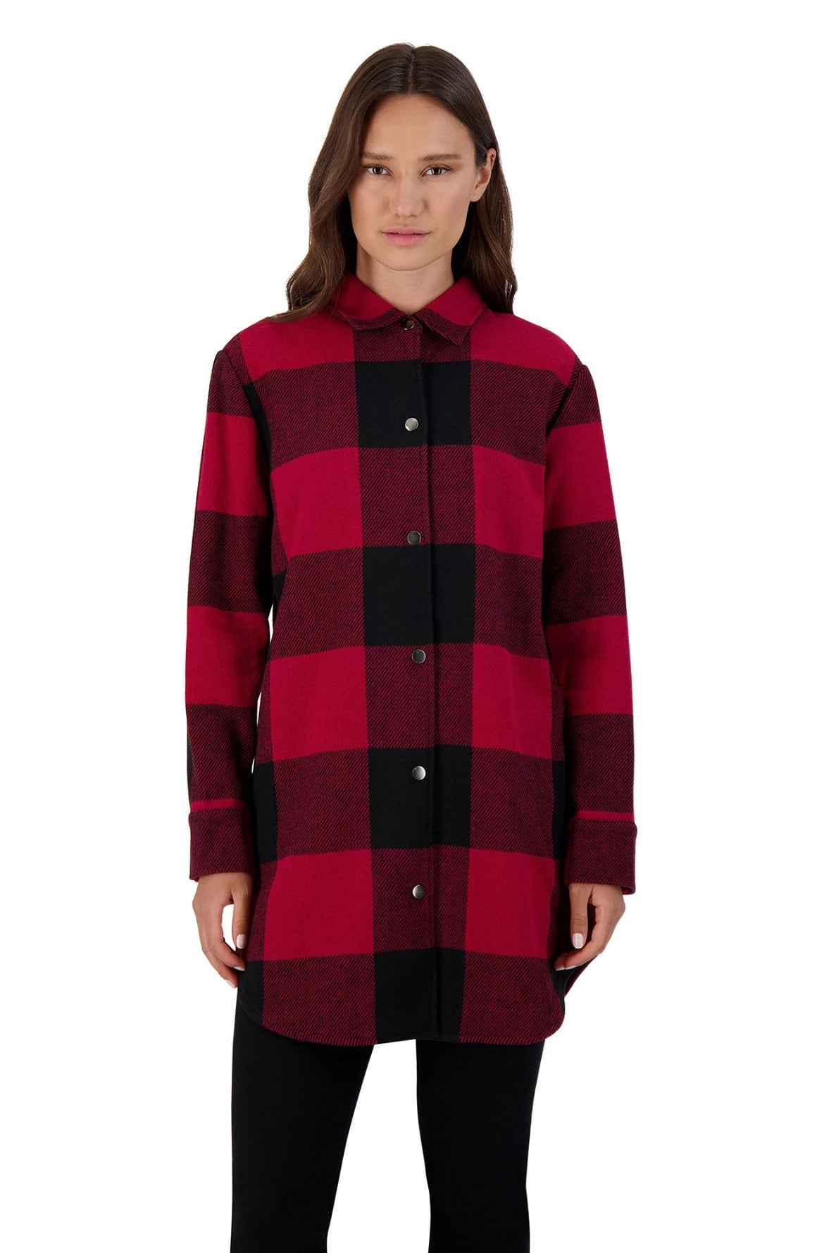 BB Dakota Eldridge Plaid Coat Red