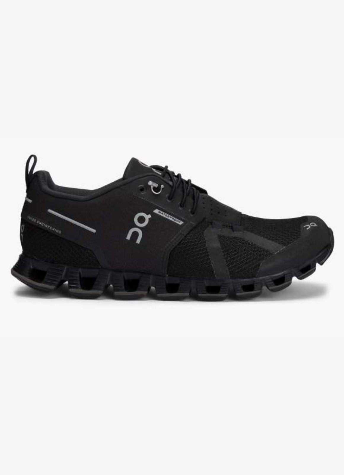 On Running Women's Cloud Waterproof Shoe Black Lunar