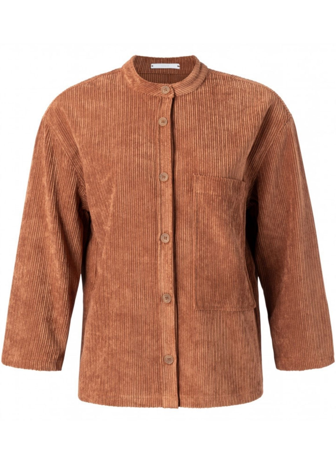 YAYA - Rib Cord Pocket Shirt Light Rust