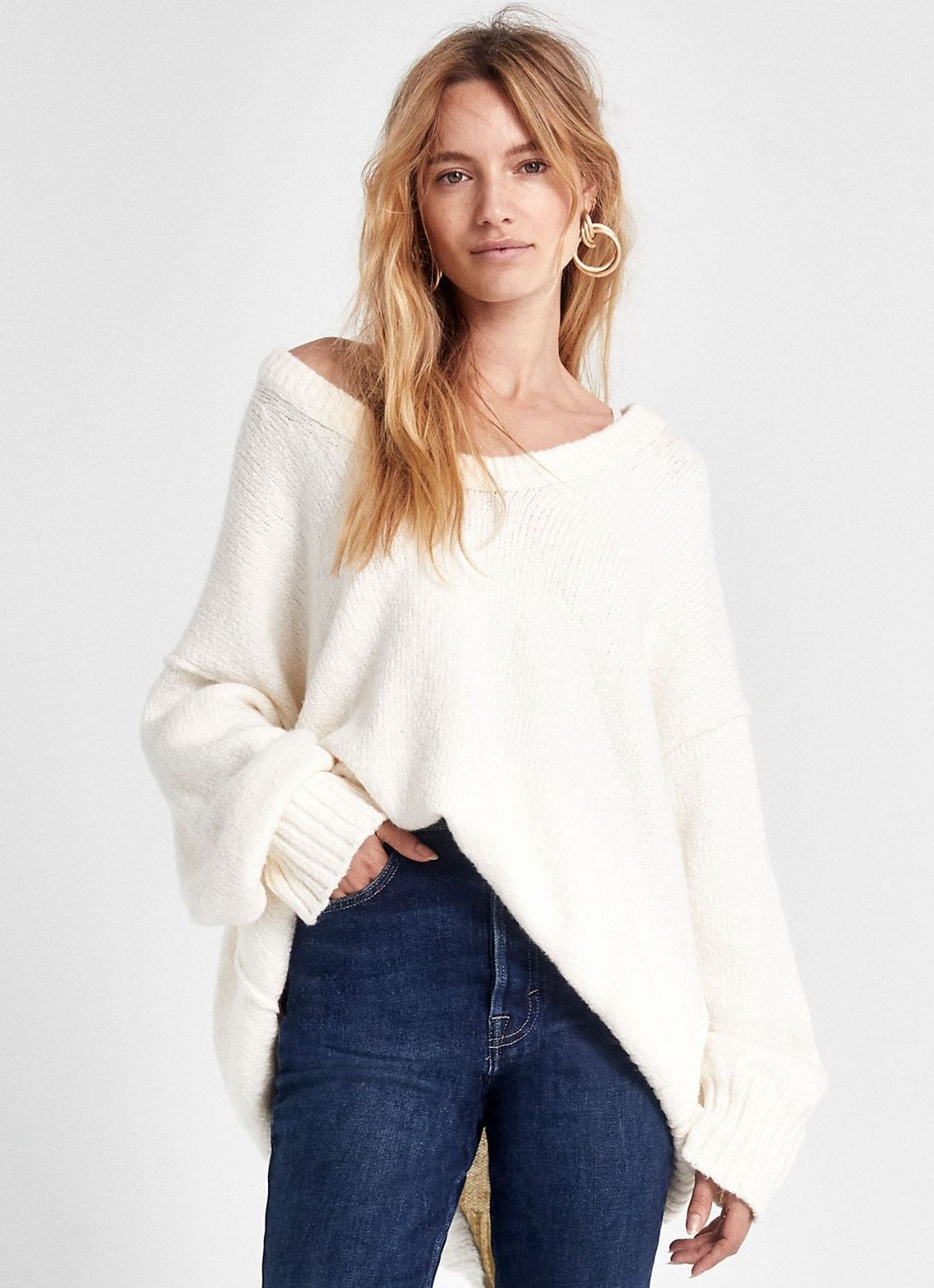 Free people brookside tunic ivory