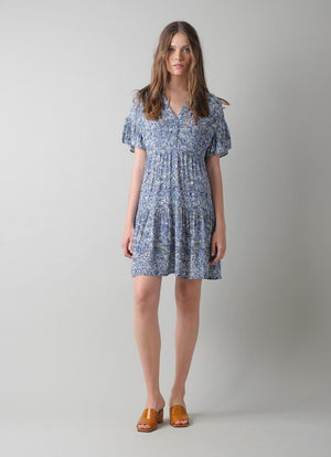 indi & cold - Tile Print Short Dress