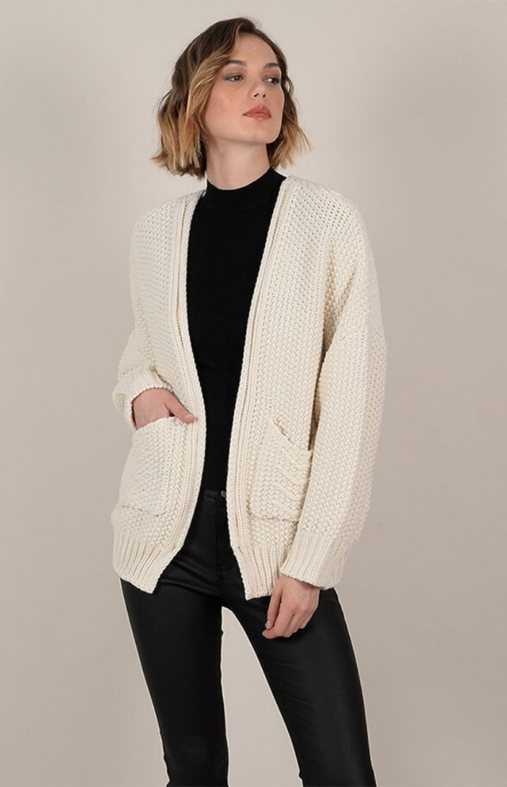 Molly Bracken Open Cardigan OffWhite