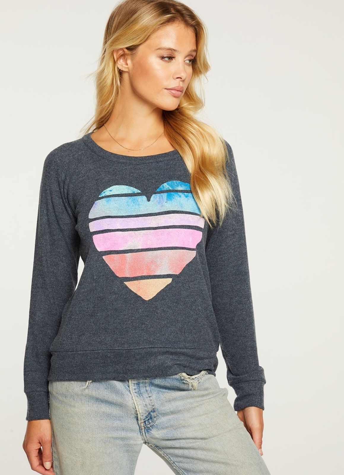 Chaser - Painted Heart Long SleeveChaser - Painted Heart
