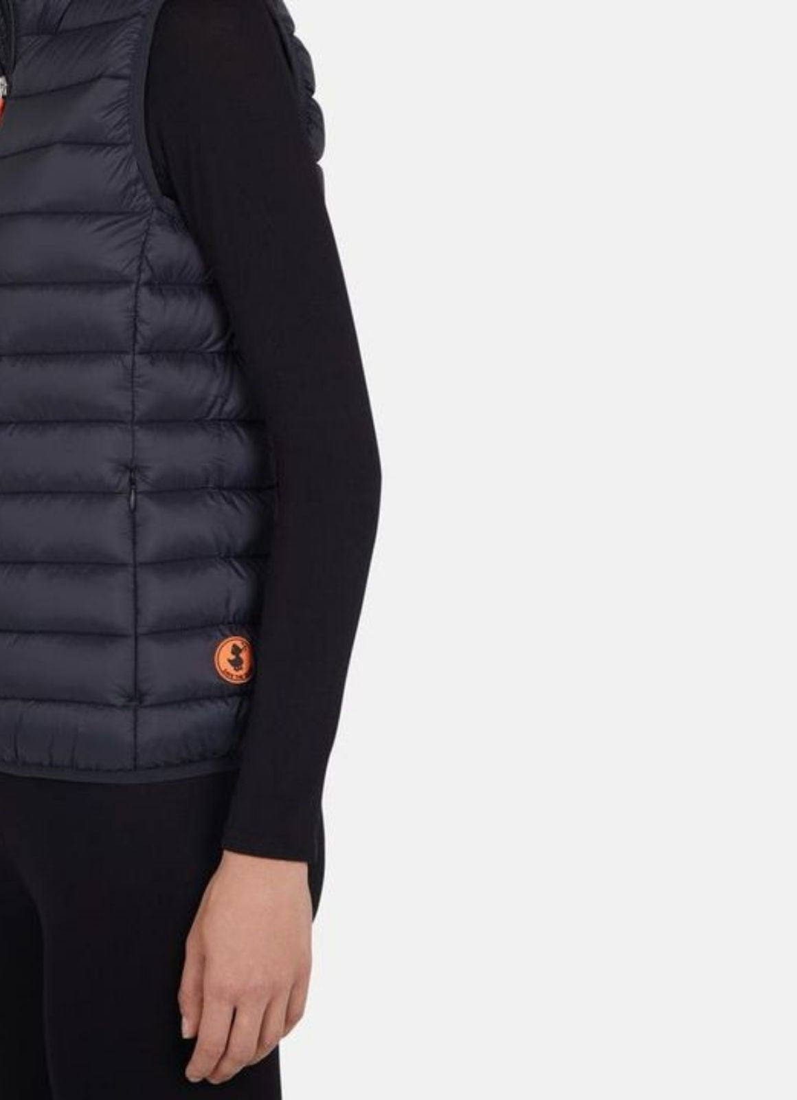 SAVE THE DUCK WOMENS VEST IN GIGA GREY BLACK