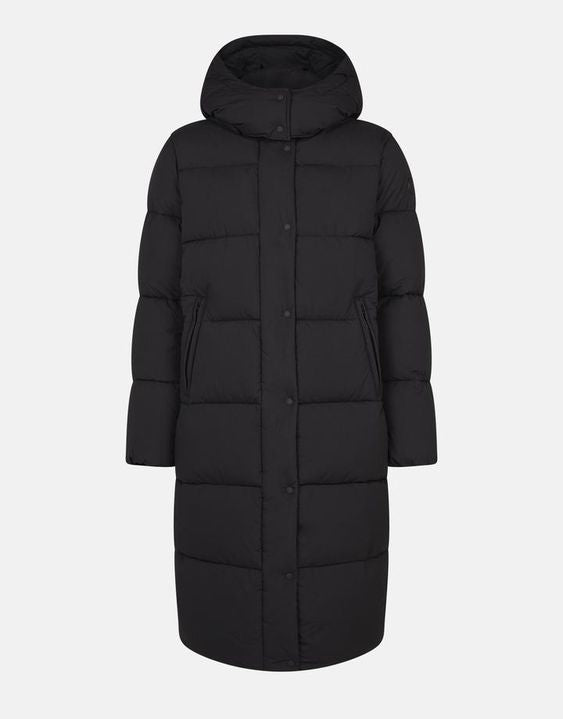 Save The Duck Women's Hooded Long Quilted Coat SOFY