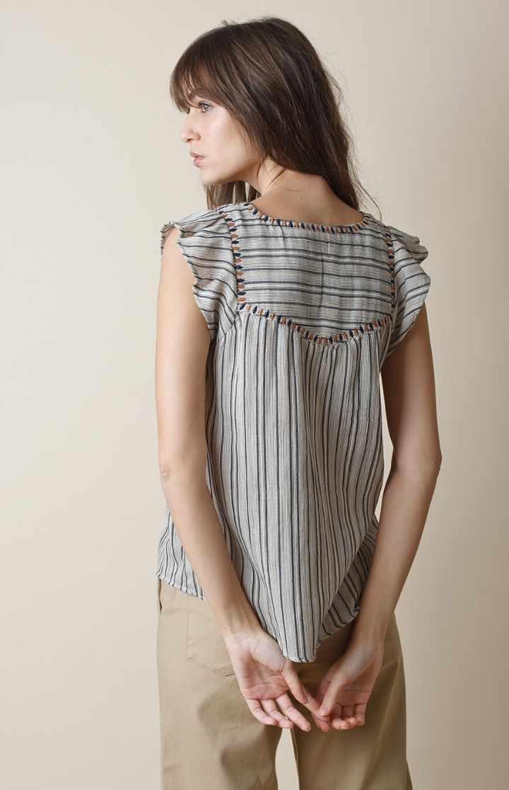 indi & cold - Striped Cotton Top