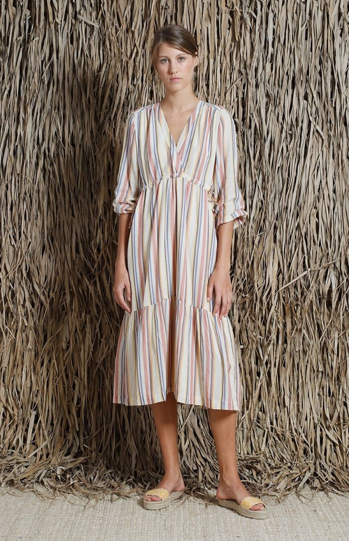 indi & cold - Striped Wrap Dress