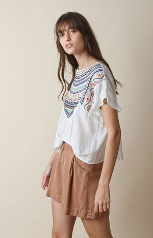 indi & cold - Folk Embroidery Top