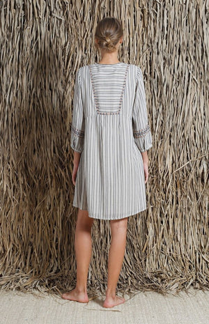 indi & cold - Striped Tunic Dress