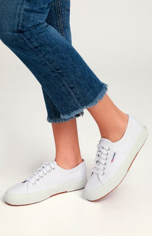 Superga Cute Classic COTU White Canvas Sneaker