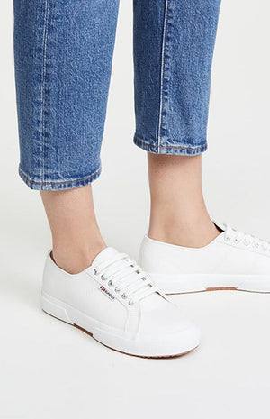 Superga 2750 Nappaleau White Leather Sneaker