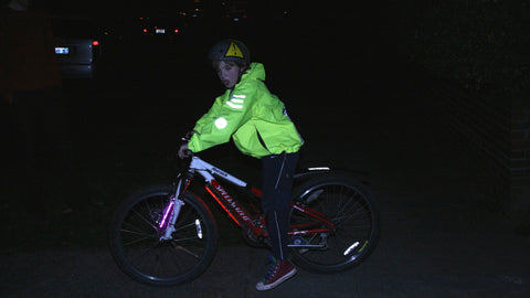 "Charlie on his bike wearing the original ""Charlies Coat"""
