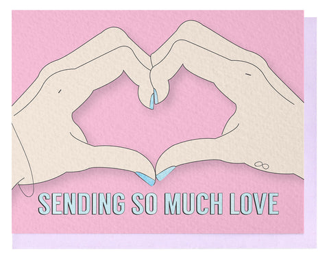 Sending Love - Light Card