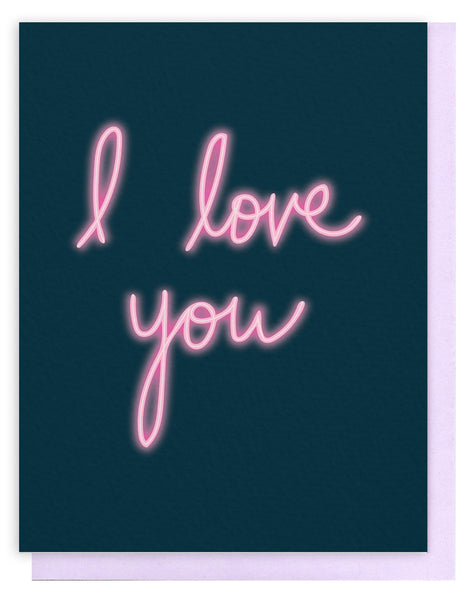 'I Love You' Neon Card