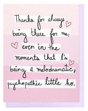 Melodramatic Card