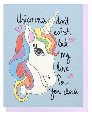 Unicorn Don't Exist Card
