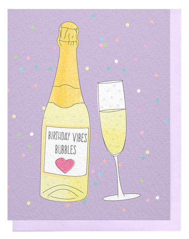 Birthday Vibes Bubbles Card