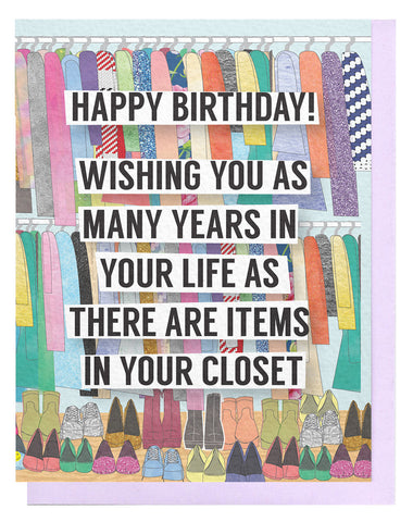 Closet Birthday Card