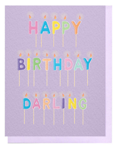 HBD Darling Candles Card