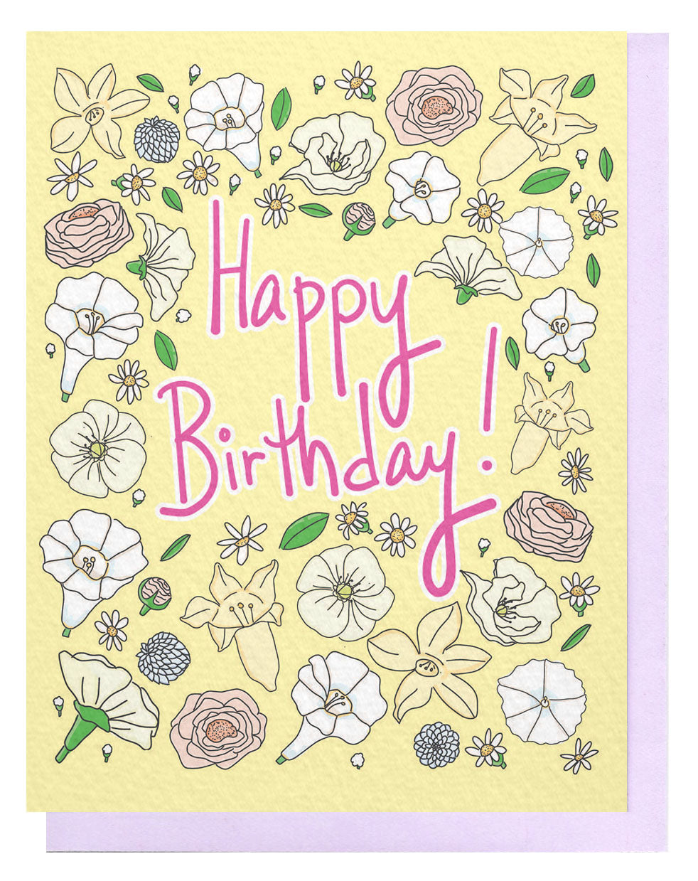 Bday Floral Card - Yellow