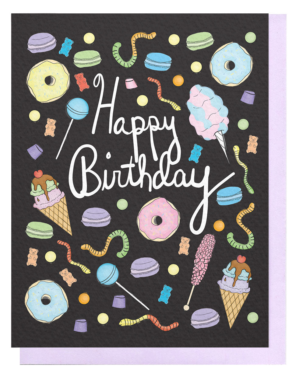 Bday Treats Card - Black