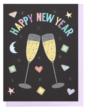 New Year Toast Card