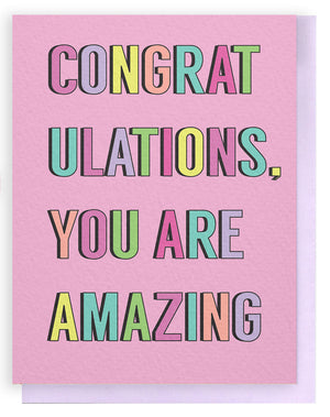 Congrats Amazing Card