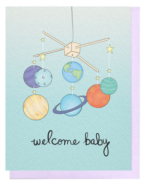 Welcome Baby Mobile Card