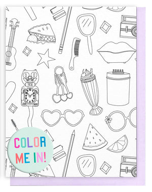 Pattern Coloring Card